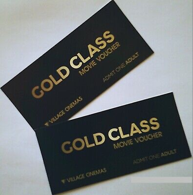 Voucher Gift Card Movie 2 Two Tickets Village Cinemas Gold Class RRP $84.00
