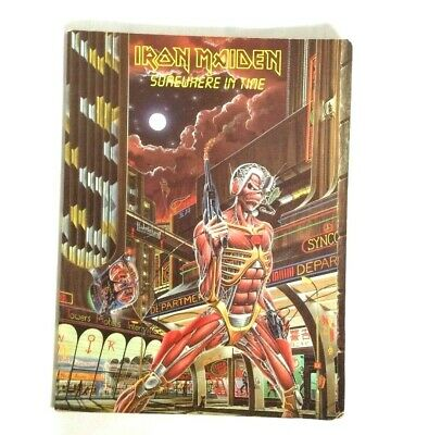 Iron Maiden Somewhere In Time Guitar Tab Book Vintage Heavy Metal Collector 1987