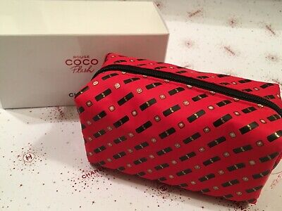 f4e2f98af52e65 CHANEL MAKEUP BAG Rouge Coco white pouch small size 2018 VIP gift ...