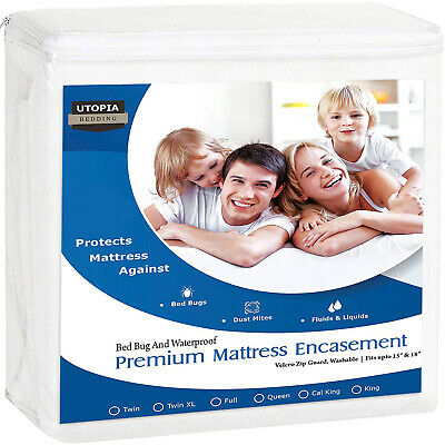 Premium Zippered Matress Encasement Zipper Opening Mattress Protector Waterproof