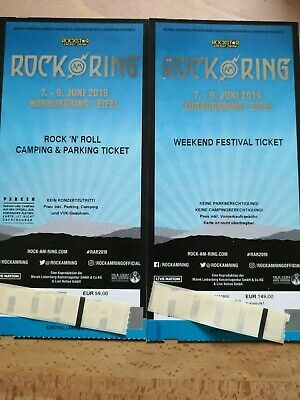 ROCK AM RING 2019 - WEEKEND FESTIVAL TICKET und Rock'n'Roll CAMPING TICKET