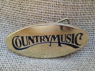 A Vintage & Rare Solid Brass Belt Buckle,Country Music,Baron Brass Buckle Wow.