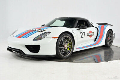 2015 Porsche 918 Spyder Weissach Package Axle Lift Custom Tailoring Acid Green Carbon Piping Magnesium Ceramic Martini