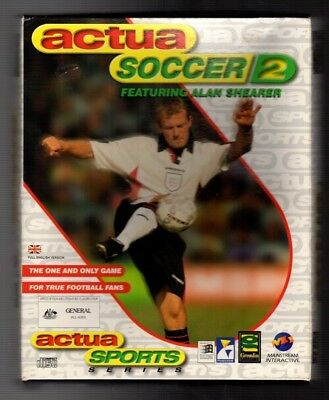 Actua Soccer 2. PC Game. 1990's Vintage Retro Big Box. New and Complete.