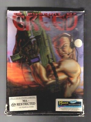 Greed. PC Game. 1990's Vintage Retro Big Box. New and Complete.