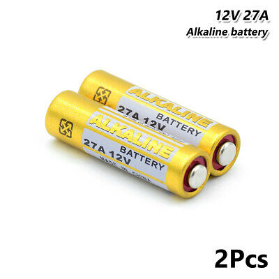 12V Alkaline Battery 27A A27BP K27A For Remote Control Security Devices 2Pcs C4