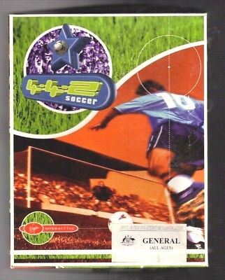 4-4-2 Soccer. PC Game. 1990's Vintage Retro Big Box. New and Complete.