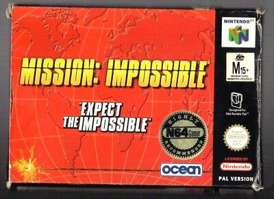 Mission Impossible.  Nintendo N64. Cleaned and Tested. PAL