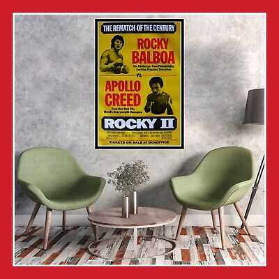 Toile Coton Affiche Us Cinema Movie Sortie Film Poster Rocky 2 La Revanche Dvd