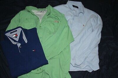 3 Lot Of Shirts By Hilfiger Polo Ralph Lauren Cool Fit Columbia Mens Xl Tommy 0nPkwO
