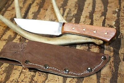 Custom M.RHODES BUSH/HUNTING knife with sheath -nice! (CHERRY WOOD)