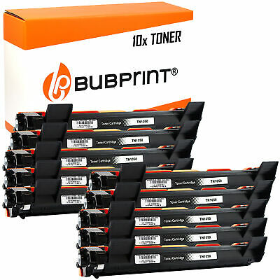 10 Toner Compatible with Brother TN-1050 Black Hl 1110 1112 DCP 1510 1512 1612W