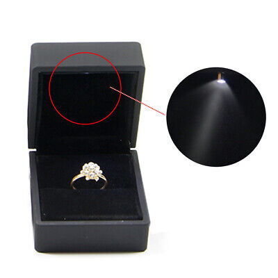 Packaging For Engagement Ring Box With LED Lighted Wedding Propose Organizer
