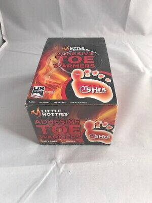NEW 5 Hours Little Hotties adhesive toe Warmers Disposable Air-Activated 1 Pair