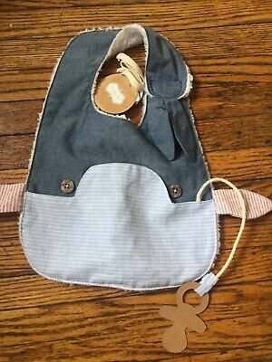 Mud Pie Whale Bib NWT Easter Pacifier Holder