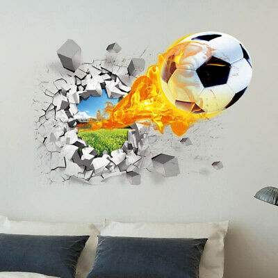 Wall Sticker Football Background Style Home Household Living-Room Decoration