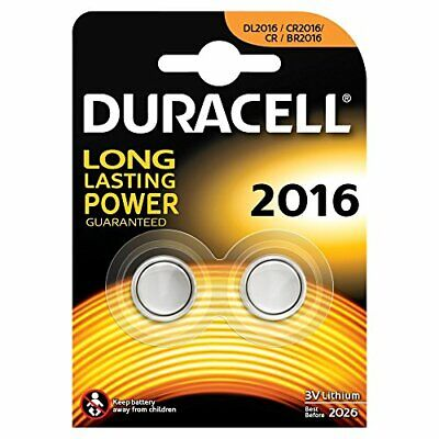 Duracell DL2016 CR2016 Lithium Coin Cell Batteries, 2 in a pack