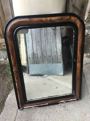 Antique French Mirror, Louis style with foxed glass