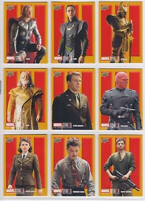 Marvel The First Ten (10) Years, Roman Numerals III Chase Card Set RN19-27