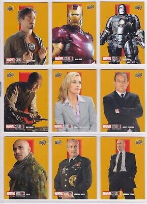 Marvel The First Ten (10) Years, Roman Numerals I Complete Chase Card Set RN1-9