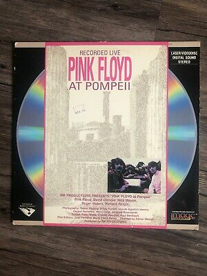 Pink Floyd Recorded Live at Pompeii Laserdisc Vestron Musicvideo Rare 1972 LVD