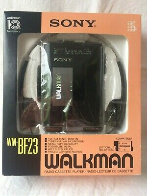 SONY WALKMAN WM-BF 23 Radio Cassette Player FM/AM Schwarz. Neu in OVP