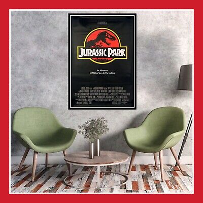 TOILE AFFICHE CINEMA MOVIE SORTIE FILM POSTER PHOTO JURASSIC PARK US 40x60 60x80