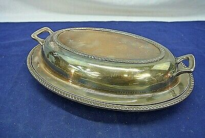 Poole Silver Co., Espn, Silverplate Covered Meat Server, Pattern No. 1042