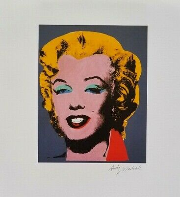 Andy Warhol Hand Signed Portrait Of Marilyn Monroe From Exclusive Catalog