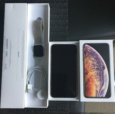 Apple iPhone XS Max - 64 GB - Gold (Unlocked) A2101 (GSM) (AU Stock) & IWATCH S3