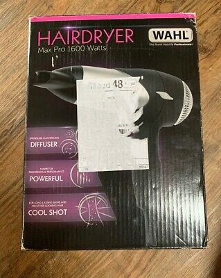 Wahl Zx508 Max Pro 1600W Compact Hairdryer Diffuser Lightweight Cool