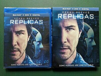 Replicas (Blu-ray, DVD, Digital) SEALED, Slipcover, FREE SHIPPING, Ohio Seller
