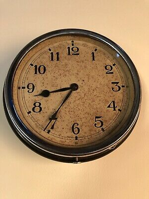 Vintage 1930s Smiths 8 Day Wall Clock . Office , Industrial, Station . Bakelite.