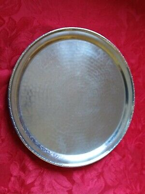 Vintage Borrowdale Arts & Crafts  Hand Beaten Stainless Steel Tray
