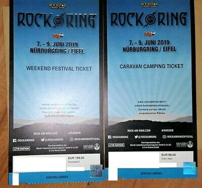 Rock am Ring 2019 Weekend Festival Ticket + Caravan Camping Ticket