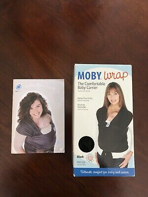 New Moby Wrap Baby Carrier - Black