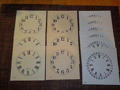 Huge Selection of over 87 Paper and Metal Clock Dials / Many Sizes & Brand Names