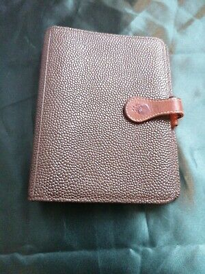 MULBERRY Vintage Brown scotch grain  Leather  Diary Organiser Filofax Planner