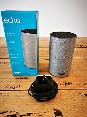 Amazon Echo (2nd Generation) Smart Assistant - Heather Grey Fabric