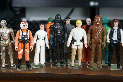 "Wide stance T2c 200 x New 1.5/"" Vintage Star Wars Figure Display Stands"