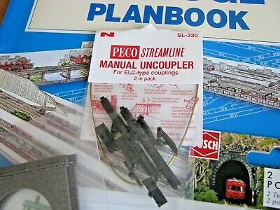 N Gauge Peco Track Plans Book, Busch Tunnel Entrances x 4 & Peco Uncouplers Pack