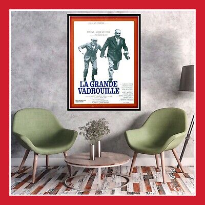 Toile Coton Affiche Cinema Film Poster Photo La Grande Vadrouille Louis De Funes