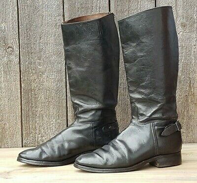 Vintage Leather Motorcycle Boots UK 10 Rocker/Cafe Racer/Classic/Retro/Kett