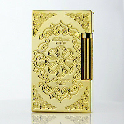 gold color  Lighter S.T Dupont Memorial lighter Bright Sound ! free shipping
