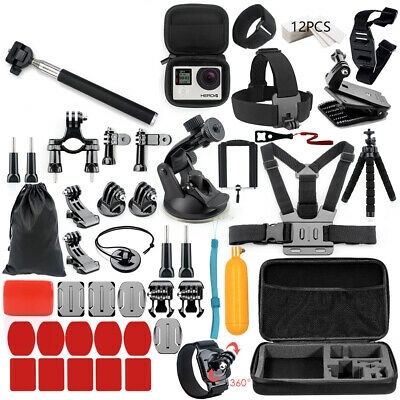 57 In 1 Action Camera Accessories Cam Tools Fr Go Pro Hero 6 5 4 3 Kit Eken A3E8