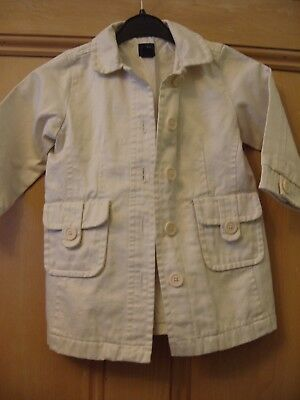 Beige Coat For Age 2 Years From Baby Gap.