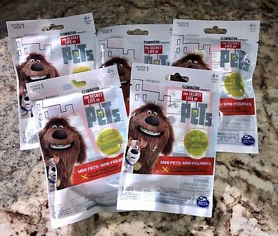 Secret Life of Pets LOT of 5 Blind Bags, Mini Collectible Figure SEALED No Dupes