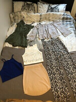 Womens Size 10 Holiday Clothing Bundle H&m, Missguided