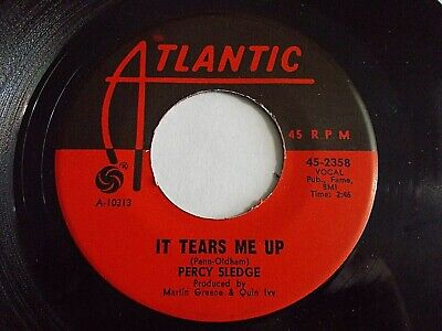 Percy Sledge It Tears Me Up / Heart Of A Child 45 Atlantic Soul Vinyl Record