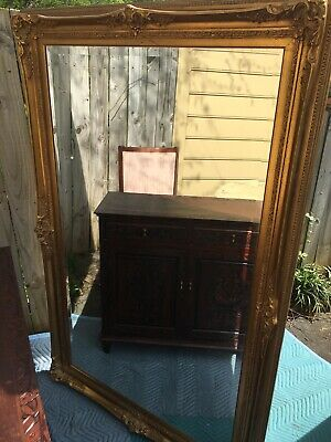 """Oversized Ornate Gold Wall Mirror Extra Large 69""""x 44"""" **Local Pick Up Only*"""